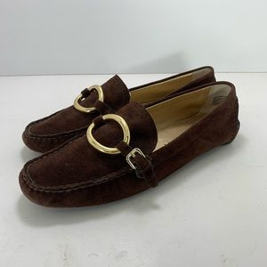 Blake Scott Brown Driving Moccasin Suede Leather